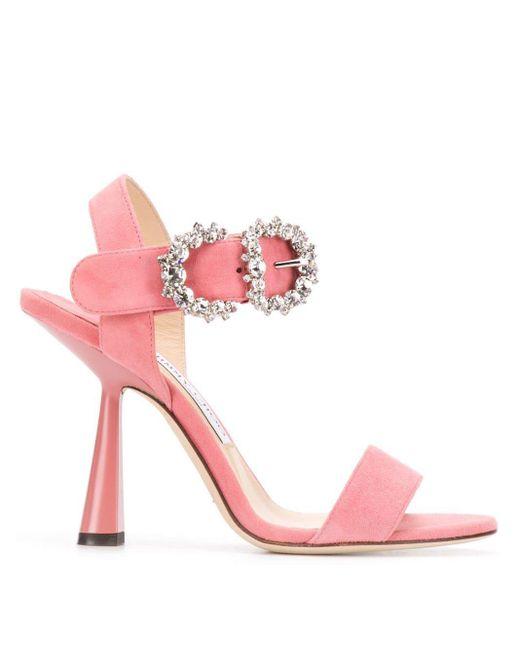Jimmy Choo Sereno 100 サンダル Pink