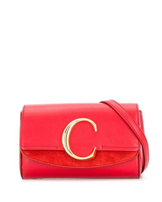 Chloé C ベルトバッグ Red