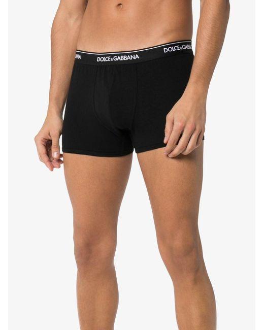 Boxer à bande logo Dolce & Gabbana pour homme en coloris Black