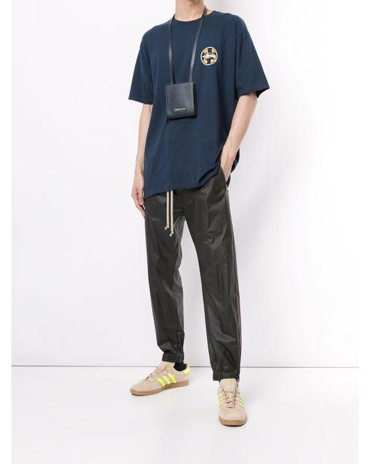 メンズ Stussy ロゴ Tシャツ Blue