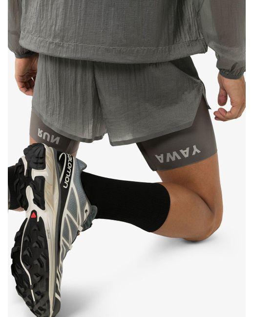 メンズ Satisfy Thermal 8 Running ショートパンツ Gray