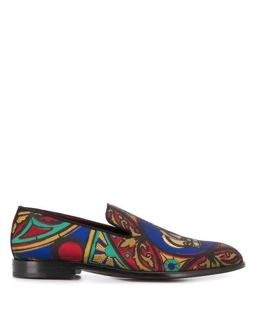 メンズ Dolce & Gabbana エンブロイダリー ローファー Brown