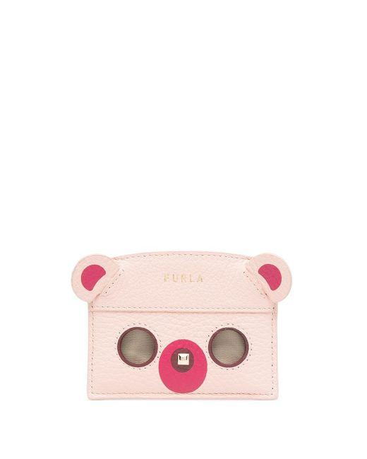 Furla ベアシェイプ財布 Pink