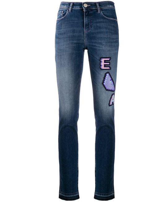 EA7 ロゴ スリムジーンズ Blue