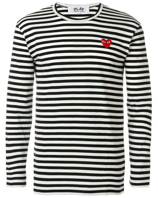 メンズ COMME DES GARÇONS PLAY ボーダー ロングtシャツ Multicolor