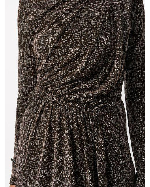 Платье С Эффектом Металлик И Драпировкой Saint Laurent, цвет: Black