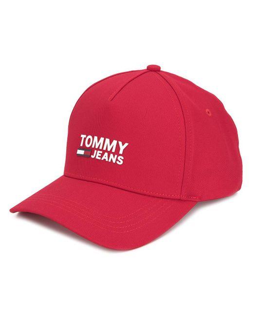 Бейсболка С Логотипом Tommy Hilfiger для него, цвет: Red
