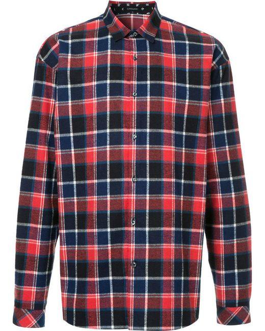 Loveless - Red Plaid Shirt for Men - Lyst