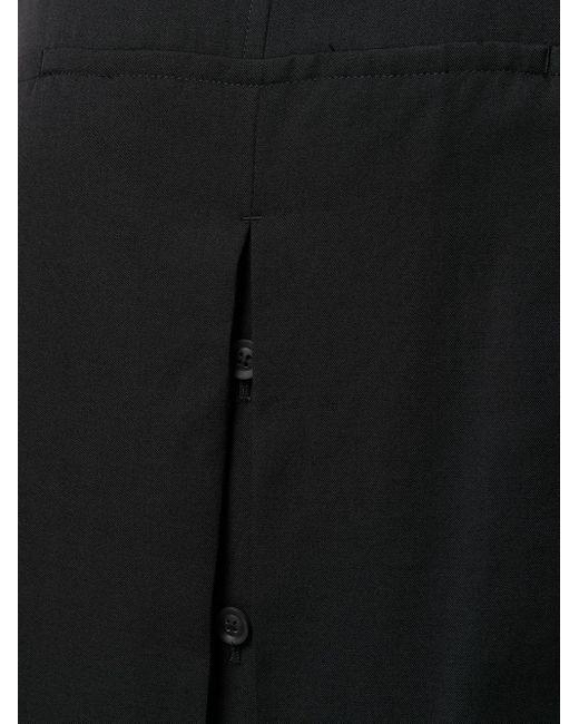 メンズ Yohji Yamamoto クロップドパンツ Black
