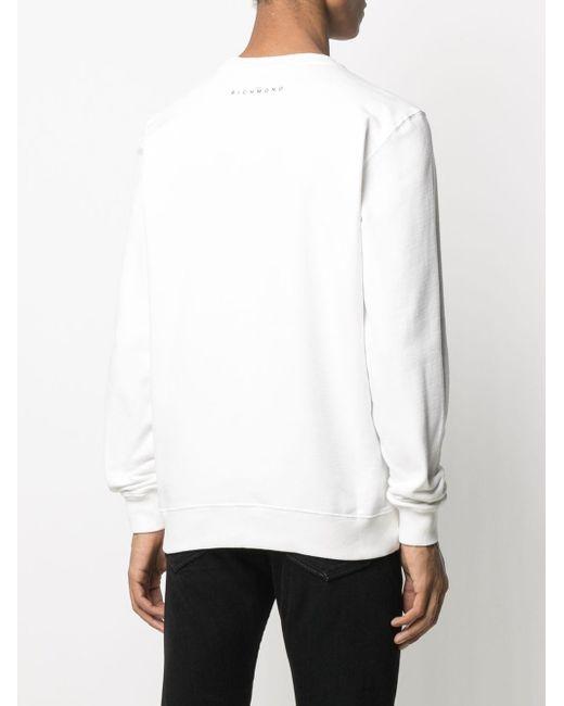 メンズ John Richmond グラフィック スウェットシャツ White