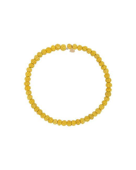 Mercedes Salazar - Yellow Woven Bead Choker - Lyst