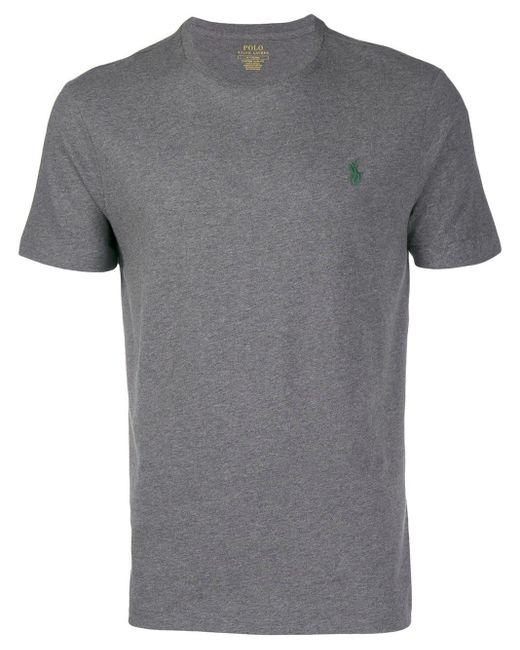 メンズ Polo Ralph Lauren ロゴ Tシャツ Gray
