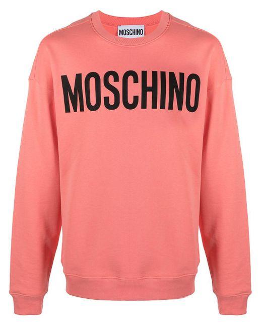 Толстовка С Круглым Вырезом И Логотипом Moschino для него, цвет: Pink