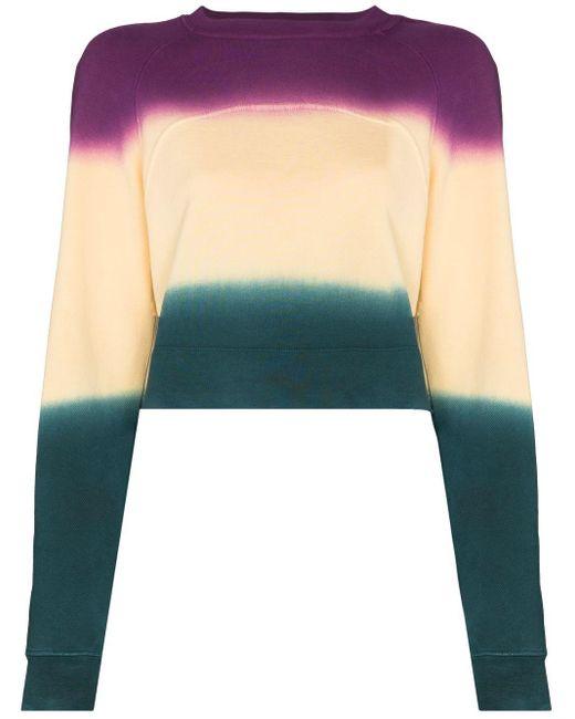 Eckhaus Latta カラーブロック スウェットシャツ Purple