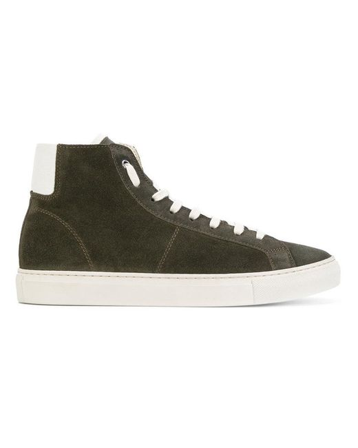 Low Brand   Green Panelled Hi-tops for Men   Lyst