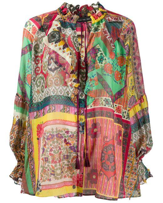 Etro パッチワーク シャツ Multicolor