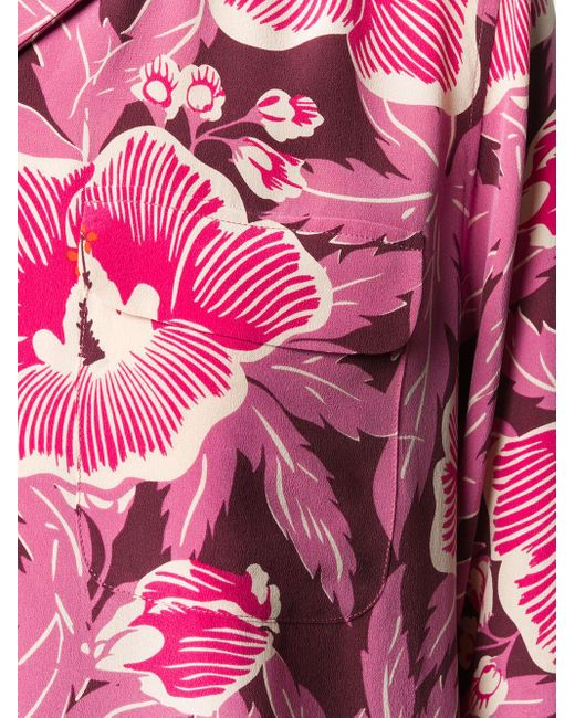 Equipment フローラル シルクシャツ Pink