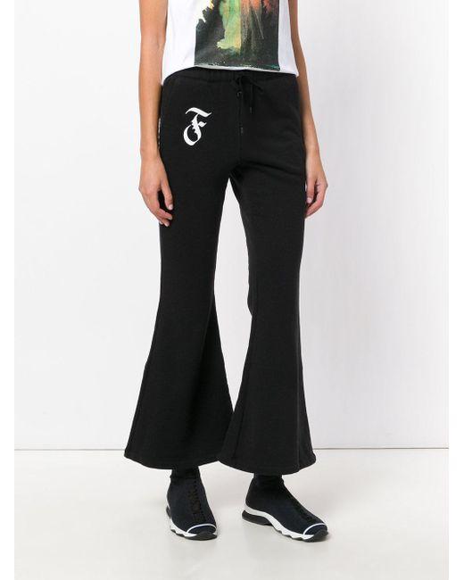 cropped track pants - Black Facetasm FYHHgTlQ
