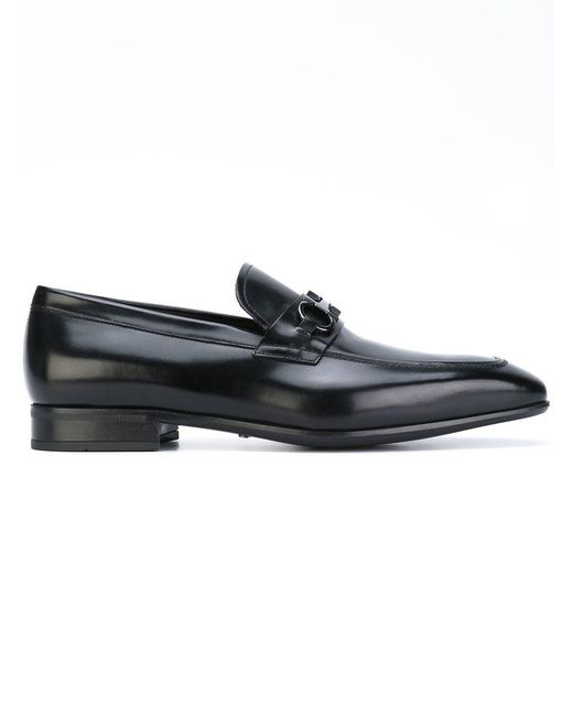 Ferragamo - Black 'dinamo' Loafers for Men - Lyst