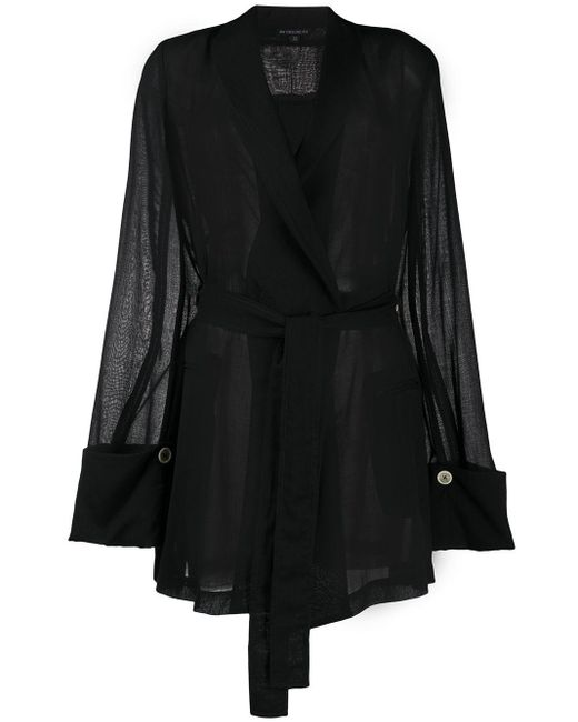 Top con cintura di Ann Demeulemeester in Black