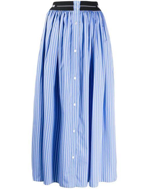 MSGM ピンストライプ スカート Blue