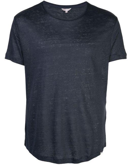 メンズ Orlebar Brown ラウンドネック Tシャツ Blue