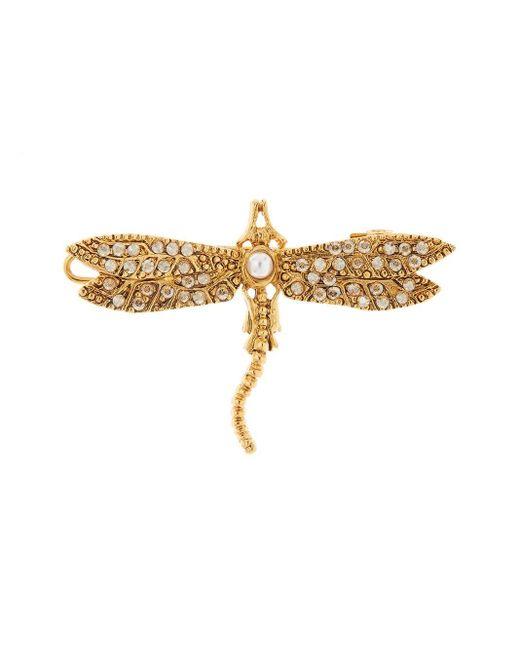 Oscar de la Renta Dragonfly ヘアクリップ Metallic