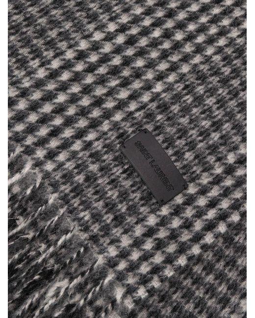 Шарф В Ломаную Клетку Saint Laurent для него, цвет: Multicolor