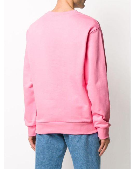 メンズ A.P.C. ロゴ スウェットシャツ Pink