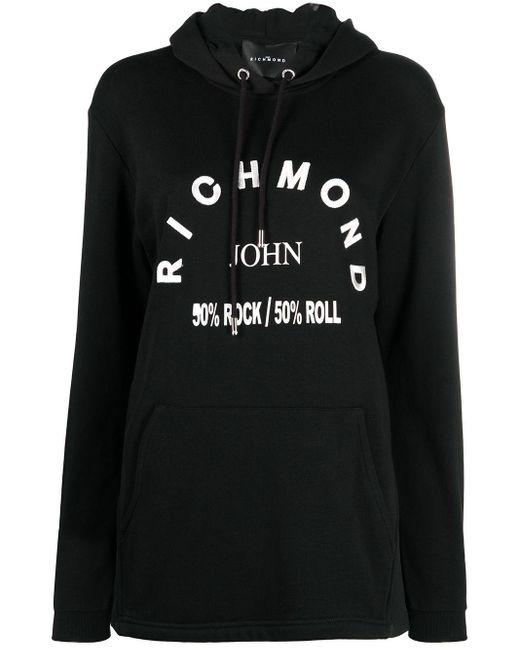 John Richmond ロゴ パーカー Black