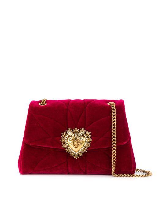 Dolce & Gabbana Devotion ショルダーバッグ L Red