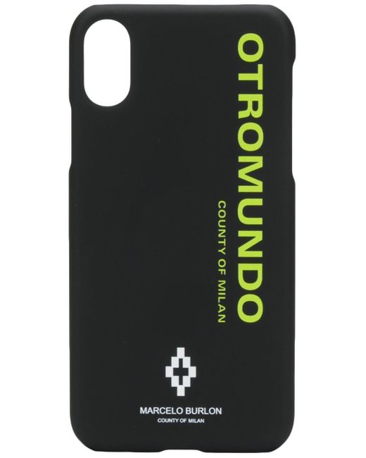 メンズ Marcelo Burlon Otromundo Iphone Xs ケース Black
