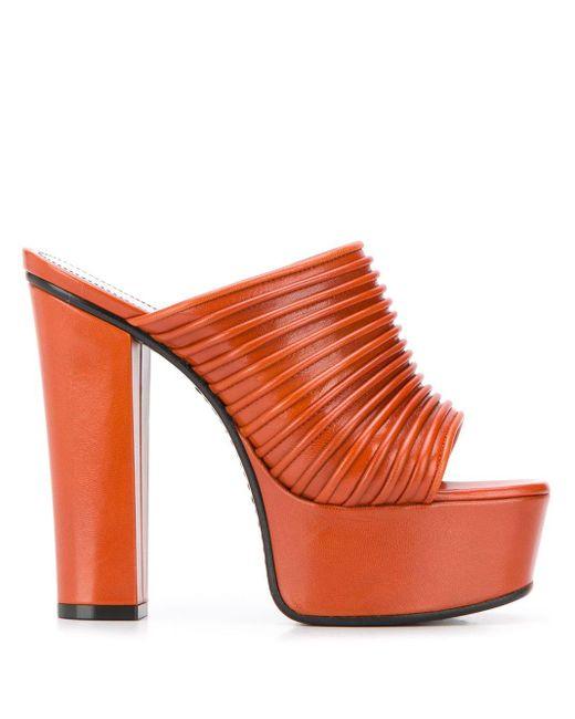 Givenchy Muiltjes Met Plateauzool in het Orange