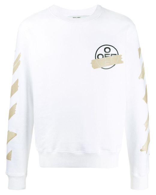 メンズ Off-White c/o Virgil Abloh アロークルーネック スウェットシャツ White