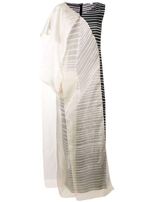Chalayan ストライプ ドレス Multicolor