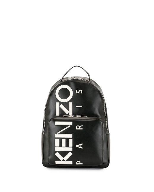 メンズ KENZO ロゴ バックパック Black