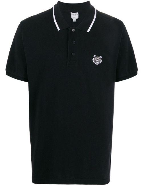 メンズ KENZO タイガー ポロシャツ Black