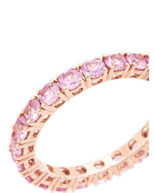 Dana Rebecca ピンクサファイア エタニティ リング 14kローズゴールド Pink
