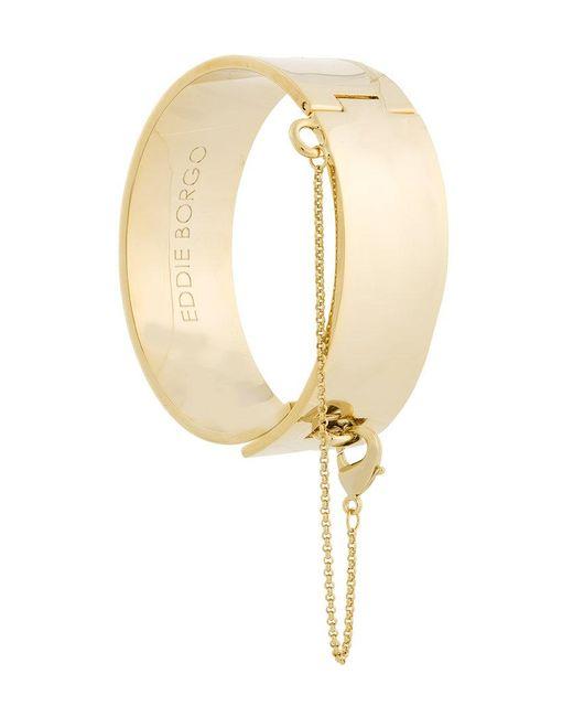 Eddie Borgo | Metallic Safety Chain Cuff Bracelet | Lyst