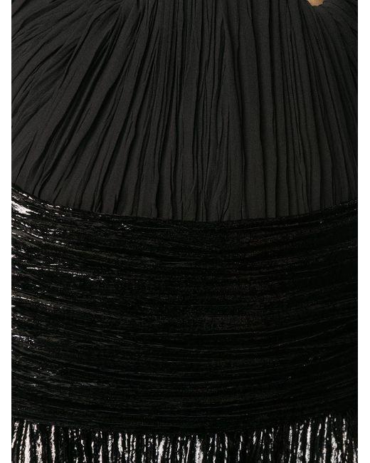 Бархатное Платье С Бюстье Saint Laurent, цвет: Black