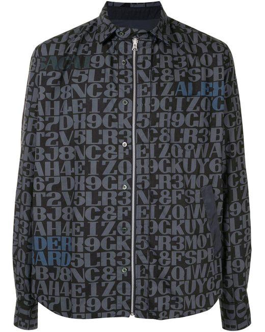 メンズ Sacai モノグラム シャツジャケット Black