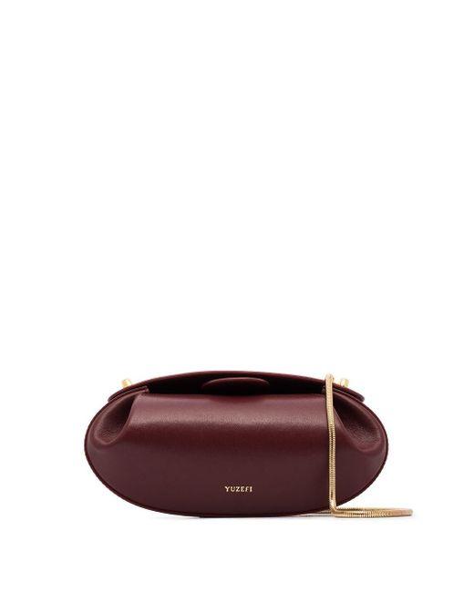 Yuzefi Red Dinner Roll Shoulder Bag