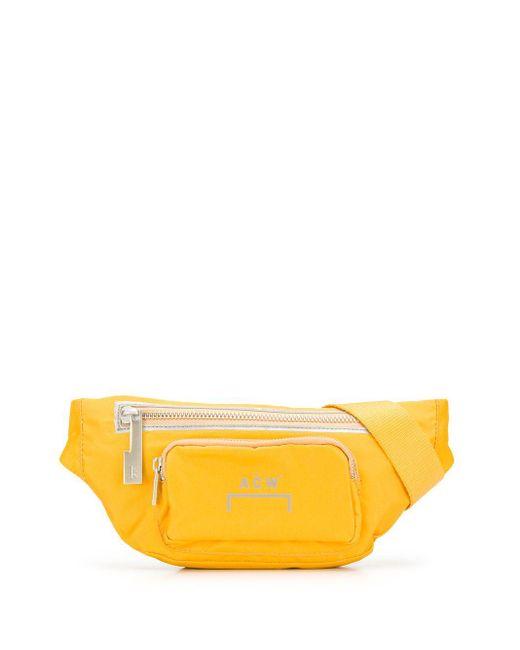 メンズ A_COLD_WALL* ロゴ ベルトバッグ Yellow