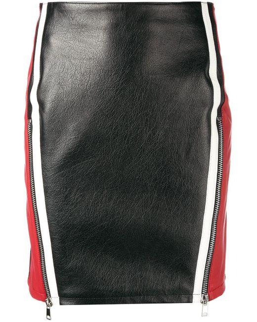 Alexander McQueen カラーブロック スカート Black