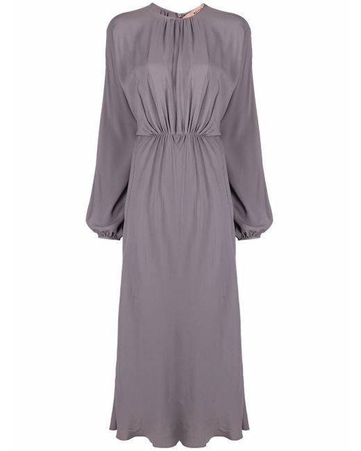 N°21 ドレープ ドレス Gray
