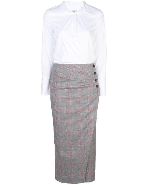 Sara Roka サイドボタン ドレス Gray