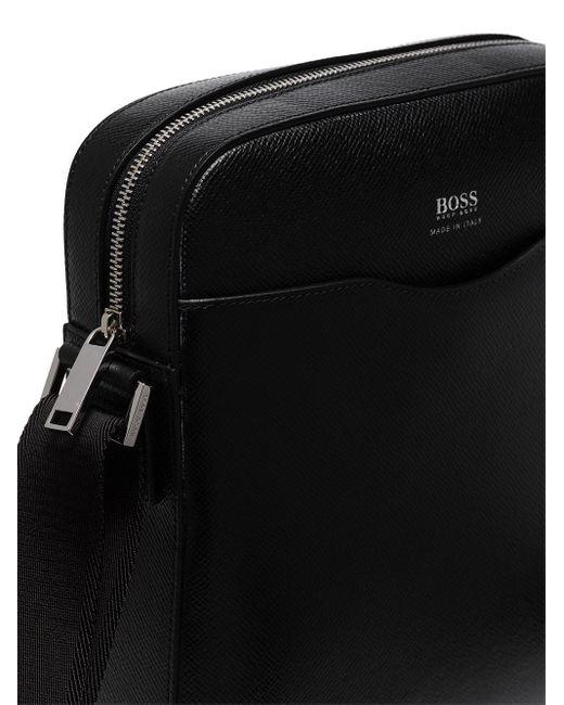 Сумка-мессенджер Reporter BOSS by Hugo Boss для него, цвет: Black