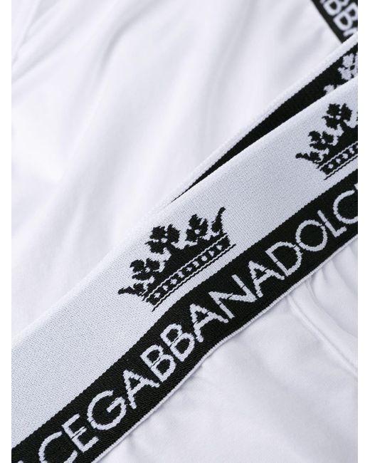 メンズ Dolce & Gabbana ロゴブリーフ White