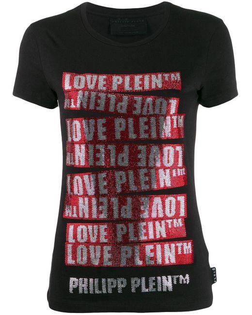 Philipp Plein Space Plein Tシャツ Black