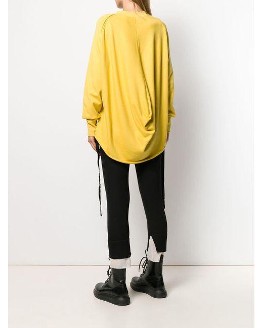 Ann Demeulemeester Move Me プルオーバー Yellow